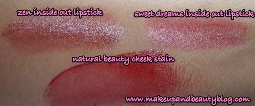 tarte-natural-beauty-cheek-stain-inside-out-lipstick-swatches