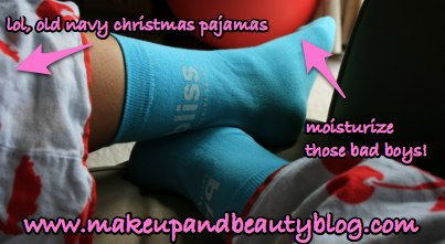 karen-wearing-bliss-jingle-bell-socks