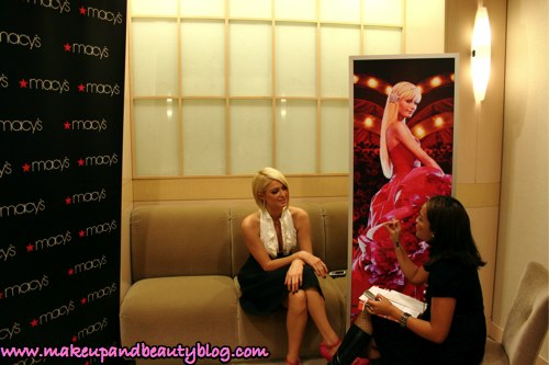 karen-interviewing-paris-hilton-can-can-fragrance-macys-valley-fair-san-jose-1