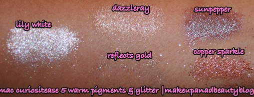 mac-curiositease-5-warm-glitter-pigment-swatches