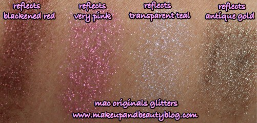 mac-cosmetics-makeup-reflects-blackened-red-very-pin-transparent-teal-antique-gold-swatches
