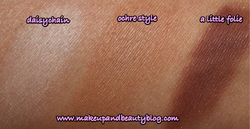 mac-cosmetics-originals-eyeshadows-daisychain-ochre-style-a-little-folie-swatches