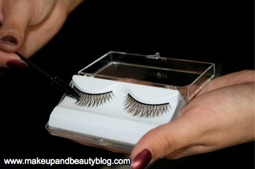 Ask the artist to apply each of the cut halves to your outer lashes only.