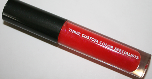 three custom color specialists papaya crush lipgloss wand product shot