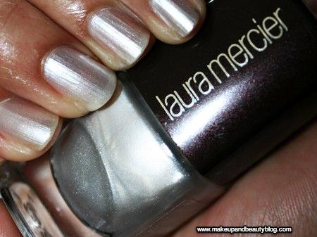 laura mercier gold digger sterling nail lacquer