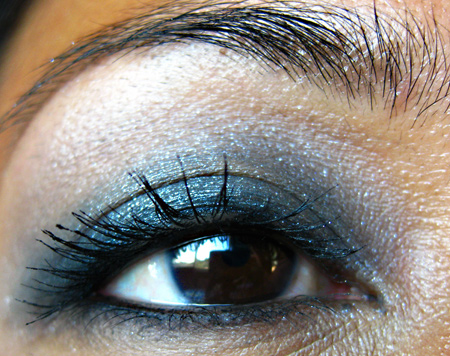 Dark eye makeup looks best when it's blended really well, and nothing can