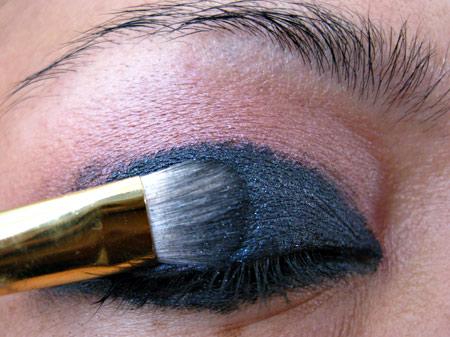 dark smokey eye makeup. Next, I patted Dark Soul