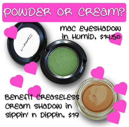 powder or cream eyeshadow
