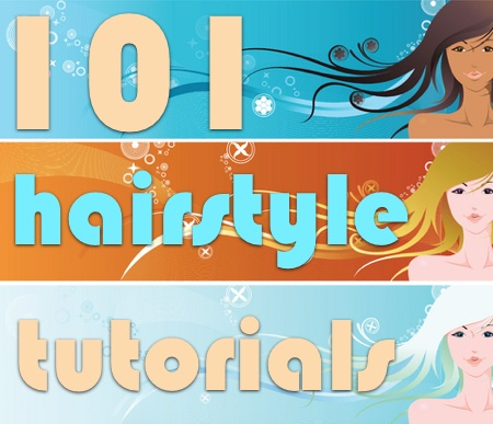 101 Hairstyle Tutorials. Girls, because we all have our sadad/mad hair