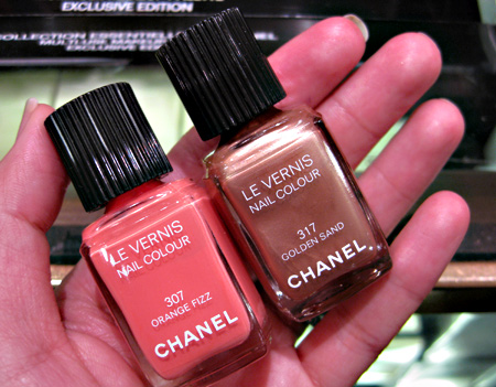 Chanel Cote DAzur Collection Summer 2009  Les Vernis Golden Sand Orange Fizz