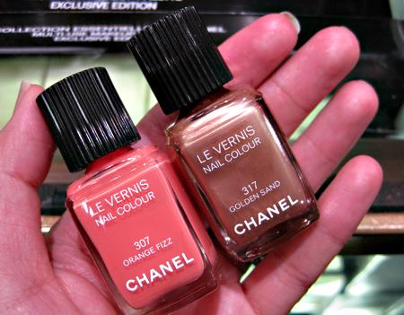 Chanel Cote DAzur Collection Summer 2009  Les Vernis Golden Sand Orange Fizz
