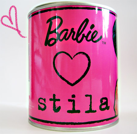 Barbie Loves Stila Foxy Doll Can Side