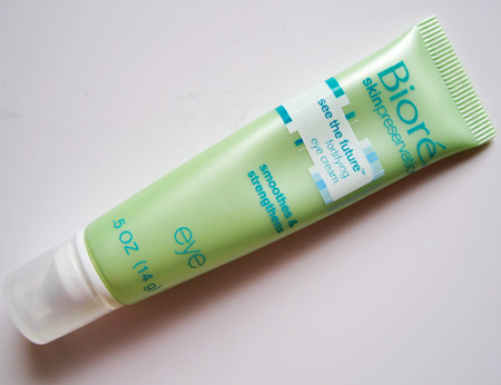 biore see the future fortifying eye cream
