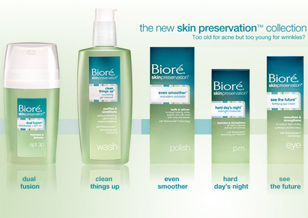 Stuck Between Pimples and Wrinkles? Biore Skin Preservation Skin Care Collection Targets Transitional Skin - Makeup and Beauty Blog