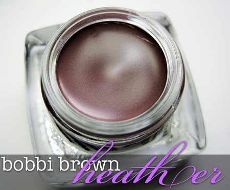 bobbi brown long-wear cream shadow in heather