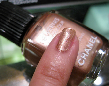 Chanel Cote DAzur Collection Summer 2009 swatches les vernis golden sand