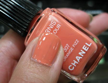 Chanel Cote DAzur Collection Summer 2009 swatches orange fizz