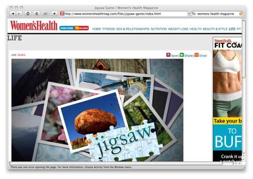 Womens Health jigsaw game