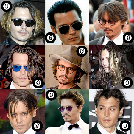 Johnny Depp and his hair