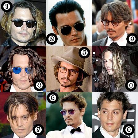 johnny depp hair. Johnny Depp and his hair