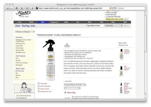 Kiehls Weightless Curl-Defining Spray