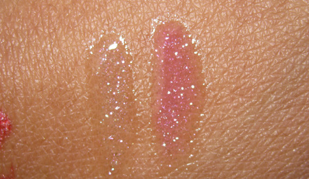 mac hello kitty kouture dazzlepuss dazzleglass swatches with flash