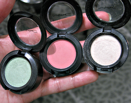 mac sugarsweet mac cosmetics aquavert dear cupcake sugarshot eyeshadows