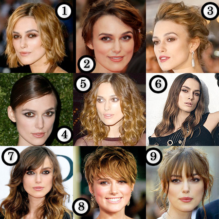 Keira Knightley's best hair? From the wee age of three, Keira Christina