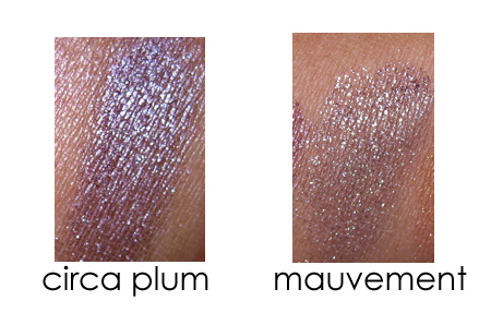 mac a rose romance circa plum pigment mauvement pigment