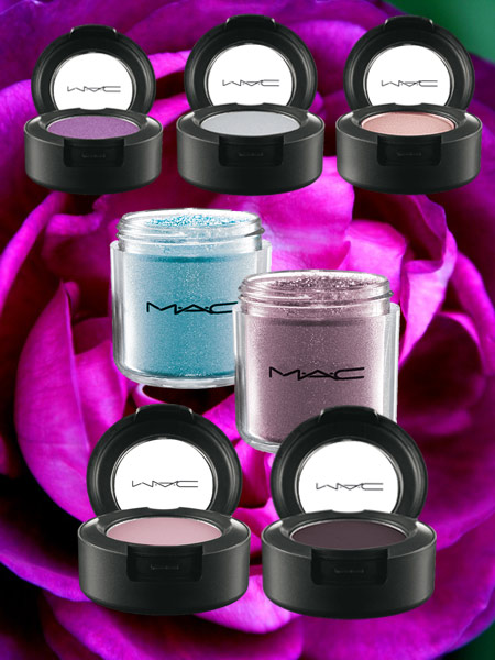 mac a rose romance eyeshadows and pigments