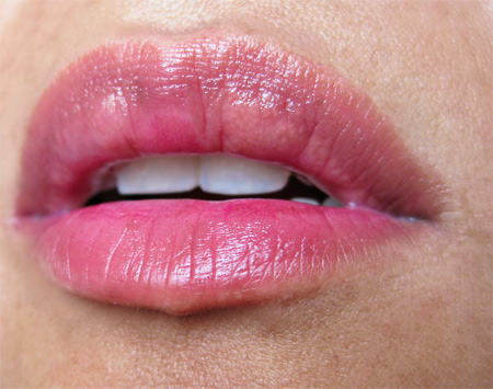 mac a rose romance secret crush see thru lip colour lip swatch