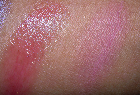 mac a rose romance swatches just a pinch summer rose