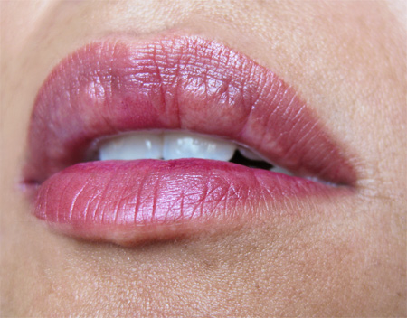 mac a rose romance tender tryst see thru lip colour lip swatch