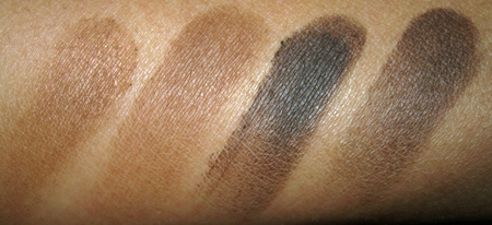 mac cosmetics soba cork concrete brun swatches with flash