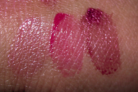mac rose romance see thru lip colour swatches