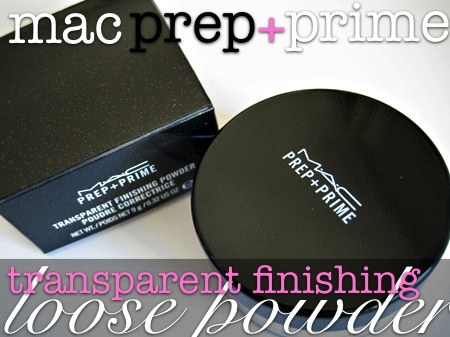 mac transparent finishing loose powder top