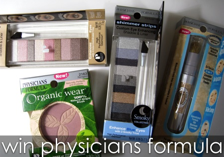 physicians formula organic wear shimmer strips mineral wear giveaway