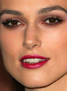 Keira Knightley makeup look