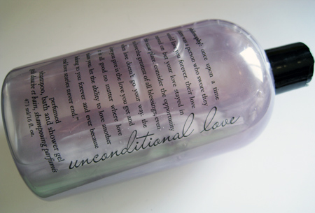 philosophy unconditional love perfumed shampoo bath and shower gel