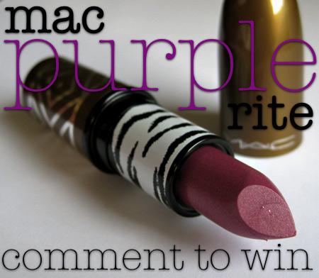 mac style warrior purple rite