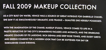 chanel fall 2009 makeup collection description