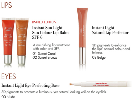 clarins instant sunlight lips eyes