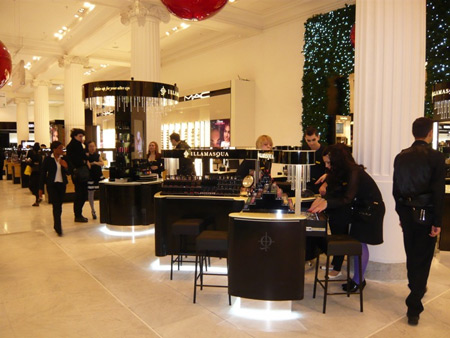 illamasqua cosmetics counter