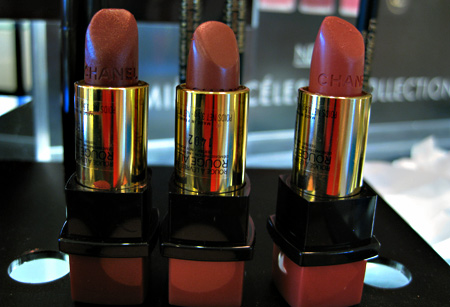 chanel venice collection fall 2009 swatches reviews captive 76 intuitive 77 instinctive 77 rouge allure lipsticks