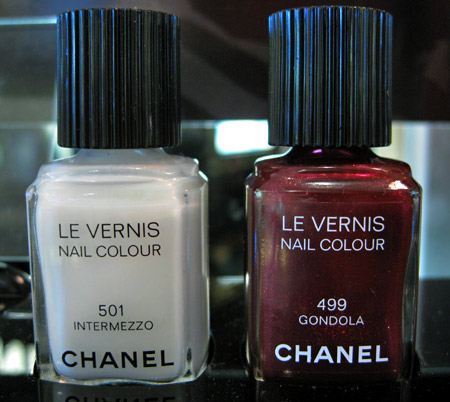 chanel venice collection fall 2009 swatches reviews intermezzo gondola