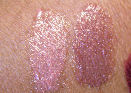 dior jazz club collection fall 2009 sweet praline 431 rose nectar 641 creme de gloss swatches