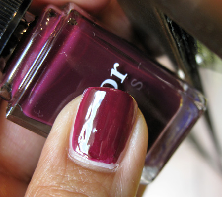 dior jazz club collection fall 2009 vernis black plum swatch