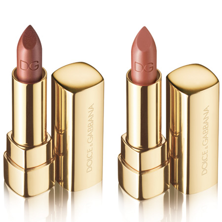 dolce gabbana the make up romantic collection fall 2009 shine lipsticks drama and naked