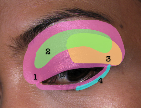 Illamasqua 4-Step Eye Makeup Look. illamasqua sirens map final