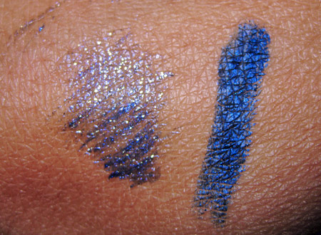 lancome declaring indigo fall 2009 ink artliner indigo charm swatches